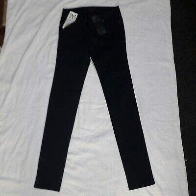 New Used Black RRP £49 W26 L32 Cheap Monday Narrow Tonki Skinny Jeans