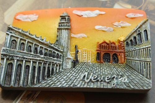 Italy Venezia Piazza San Marco Tourist Souvenir 3D Resin Fridge Magnet Craft