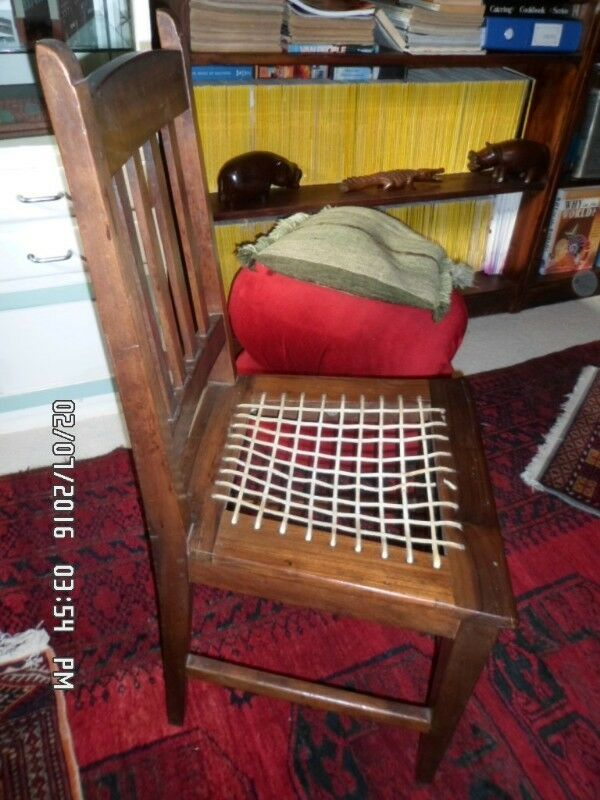 Antique Stinkwood Riempies Chair [NS]