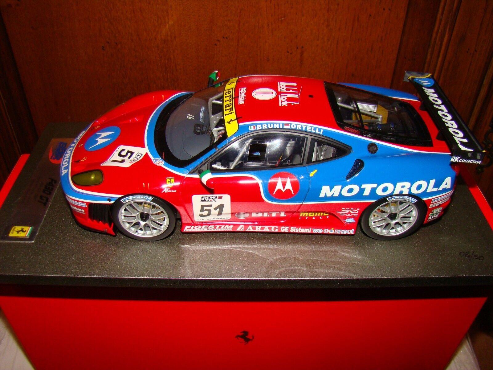 FERRARI F430GT FIA GT CHAMPIONS 2007 BBR 1 18 EME LIMITED EDITION 08   50 PCS