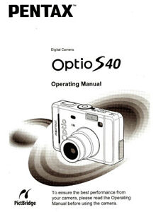 pentax optio s40 digital camera owners instruction manual rh ebay com pentax optio e85 instruction manual pentax optio m85 user manual