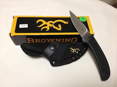 Browning Escalade Krayton Drop Point Blade Knife with Case, 322666 New with Box