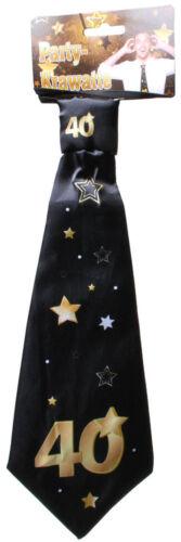 Geburtstag lustige Geschenke Geschenkidee Party Krawatte Schlips 40