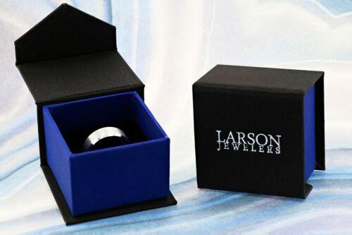 6mm /& 8mm NICOLAUS Rose Gold Inlaid Raised Center Tungsten Carbide Wedding Ring