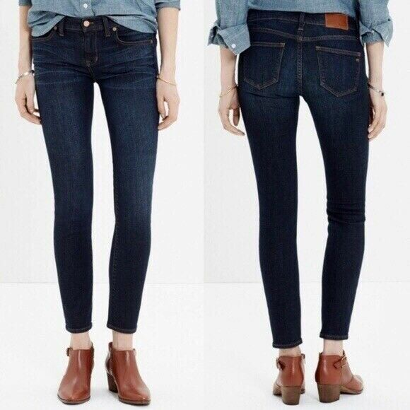 Madewell Skinny Skinny Ankle Jeans Medium Wash Stretch Ankle Zip Women's Size 29