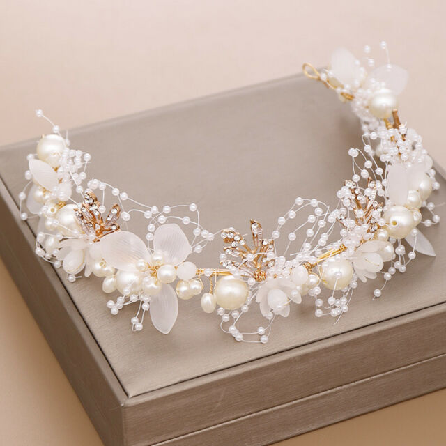8 x GLASS PEARL BEAD HAIR PINS WHITE IVORY ACCESSORIES WEDDING PROM BRIDE PARTY