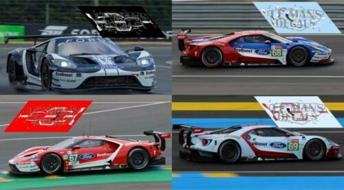 Calcas Ford GT GTE Le Mans 2019 1:32 1:24 1:43 1:18 64 87 slot decals