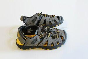 Khombu-Active-Sport-Sandals-Youth-Size-3-Gray-Black-Yellow