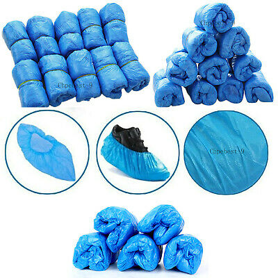 200Pc Shoes Cover Elastic Disposable Overshoes Medical Waterproof Covers Plastic