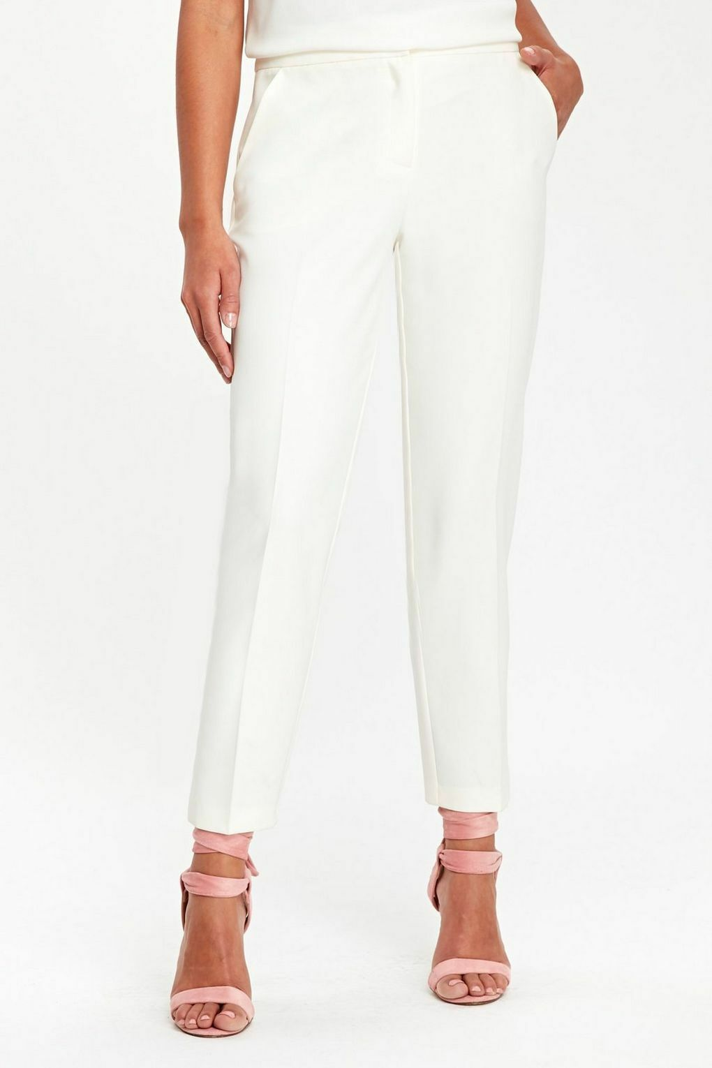 Wallis Ivory Slim Leg Trouser 16