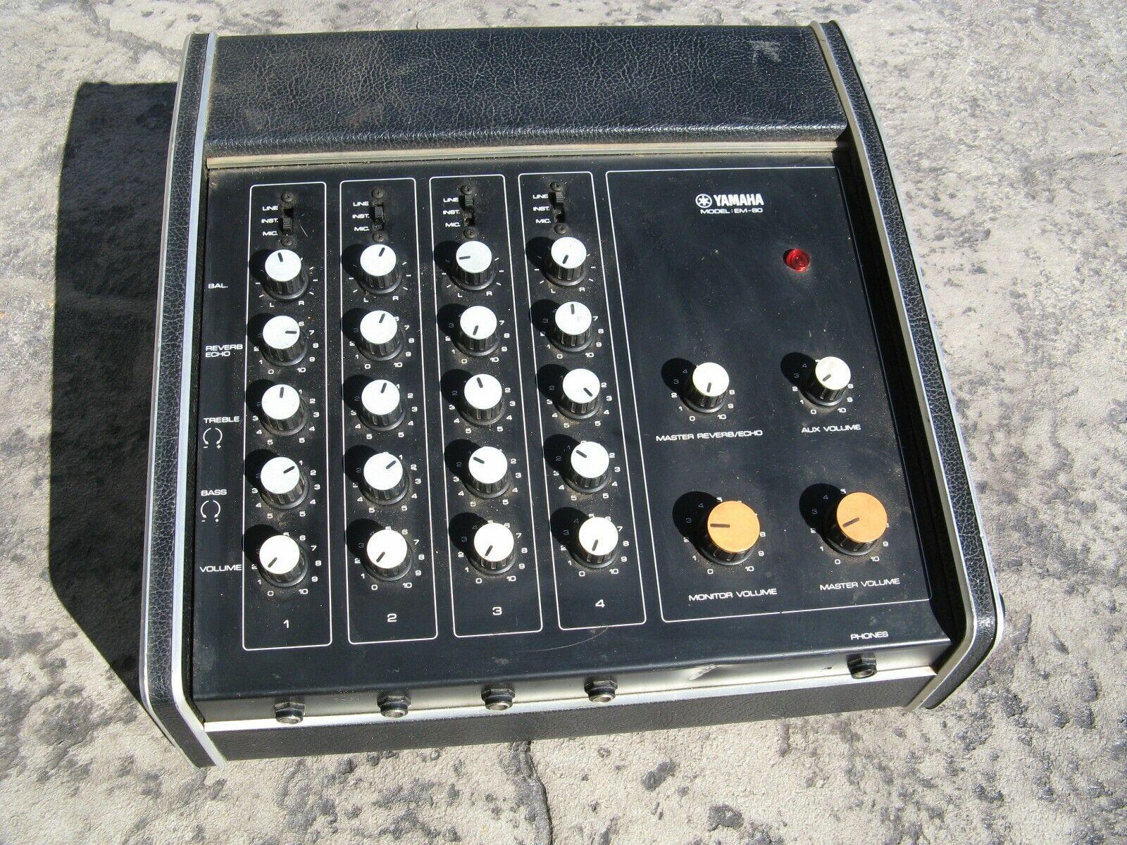 Yamaha EM-80 Mixer Bass Amp David Bowie Tim Lefebvre Needs Work