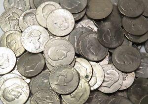 Lot of 10 Eisenhower Ike Dollar Hoard