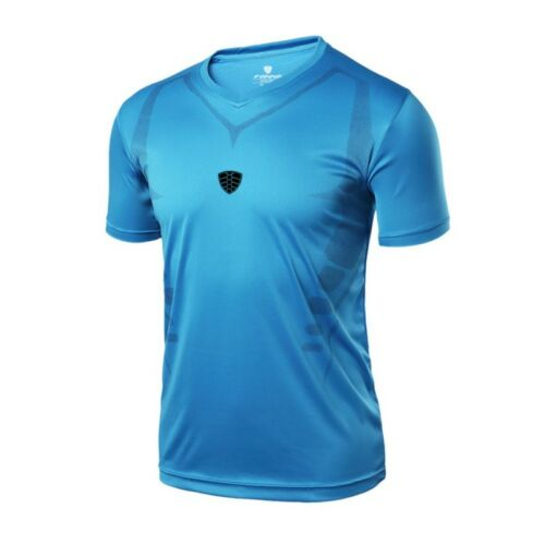 US Men/'s Short Sleeve Gym Sport T Shirt Fitness Workout Quick Drying Tops Blouse