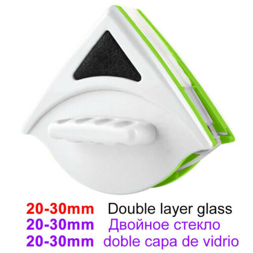 Window Glass Cleaner Tool Double Side Magnetic Clean Brush Wiper Glazing Glazed