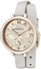 Marc Jacobs Women's MJ1418 Sally Rose Gold Dial Grey Double-Wrap Leather Watch