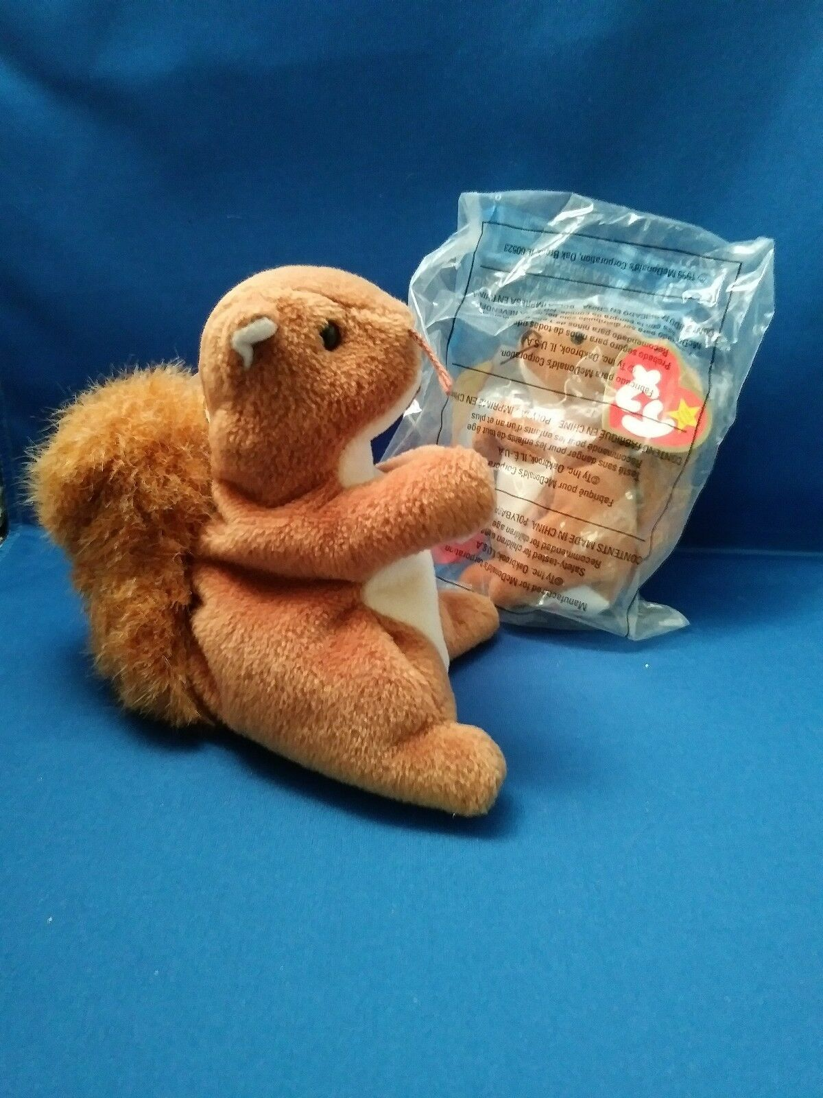 COMBO  NUTS  Squirrel DOB 01.21.1996 TY Beanie Baby & Teenie Beanie