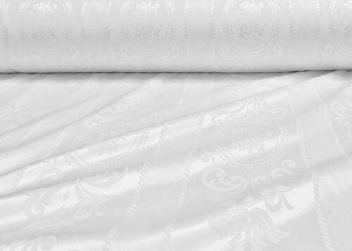 Damast Jacquard Stoff Doppelseitig Satinglanz Dekoration Tischdecke 150cm Breit