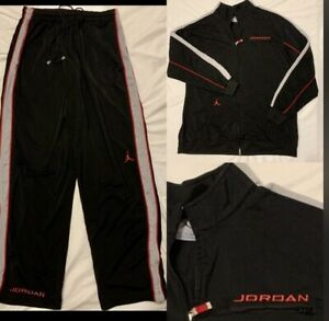 Air-Jordan-Basketball-TrackSuit-3xl-Jacket-2xl-Pants-Suit-Black-Red-Gray-Jumpman