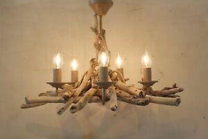 Driftwood Chandelier, Driftwood Branch Five light Fitting, 39 cm drop Drift Wood
