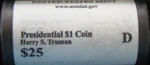 """2015 D Harry S Truman Presidential /""""Unopened/"""" Mint Dollar 25 Coin ROLL"""