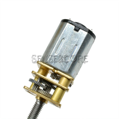 GA12-N20-M3*55 3//6//12V DC Micro Speed Reduction Gear Motor Metal Gearbox Wheel