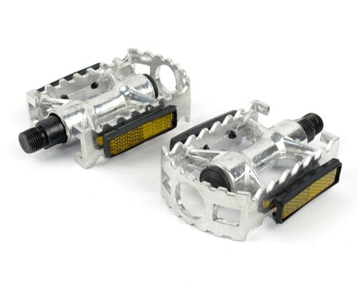Pair set 9//16 Alloy Metal Mountain Bike Bicycle MTB BMX Flat Pedals with bearing