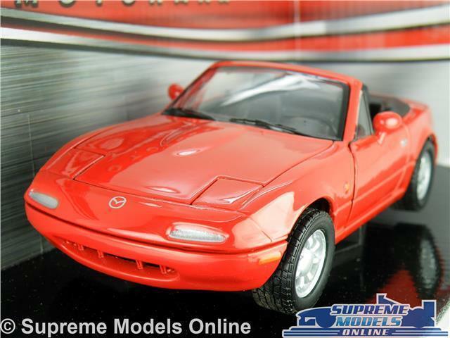 Mazda MX-5 Miata Eunos coche modelo escala 1:24 Piezas De Apertura Rojo Grande MX5 Sport K8