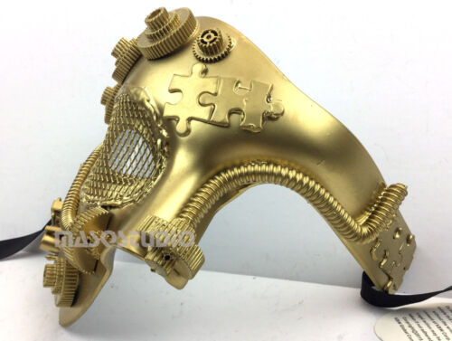 Steampunk Military Masquerade Ball Mask Burning Man Halloween Costume Party