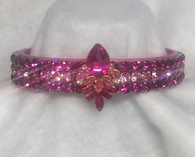 Sugarlicious Pets ™ pink Pink Princess Crystal Rhinestone Dog Collar USA