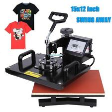 "Digital Transfer Sublimation 15"" x 12"" Heat Press Machine T-shirt Swing Away"