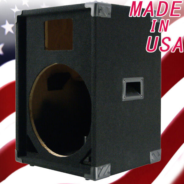 1X15 with horn PA DJ Empty Speaker Cabinet schwarz Carpet PA15H-400
