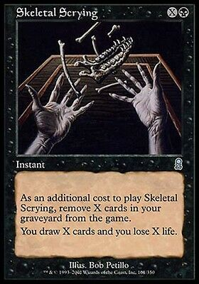 1x Skeletal Scrying Odyssey MtG Magic Black Uncommon 1 x1 Card Cards