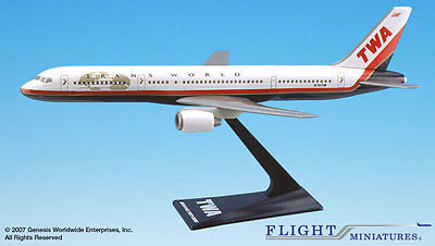 Flight Miniatures TWA Trans World American Airlines Boeing 757-200 1:200 Scale