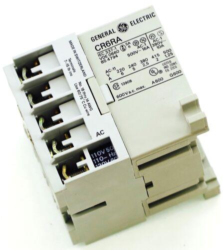 GE Miniature Din Rail Magnetic Contactor CR6RA31ZA 120V AC Coil CA4-9C-01-120D
