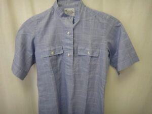 Turnbull-Asser-Shirt-12-Blue-Collar-Button-Down-Cuffed-Sleeve-Women-London