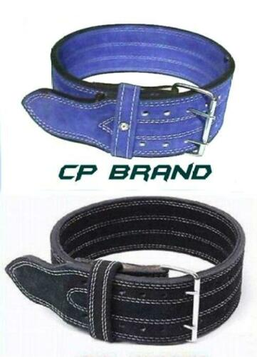 CP BRAND NEW POWER WEIGHT LIFTING BELTS BLUE OR BLACK HIGH QUALITY ALL LEATHER