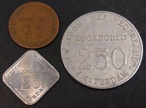 Boordgeld SMN 2x 25 en 250 cent Stoomvaart Maatschappij Nederland Kooij BS003