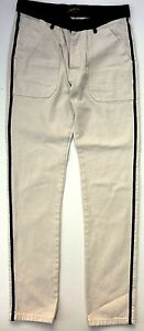 Mens-Jeans-ZARA-MAN-Nautical-Sailor-CREAM-Stripe-Naval-Uniform-Trousers-39-99