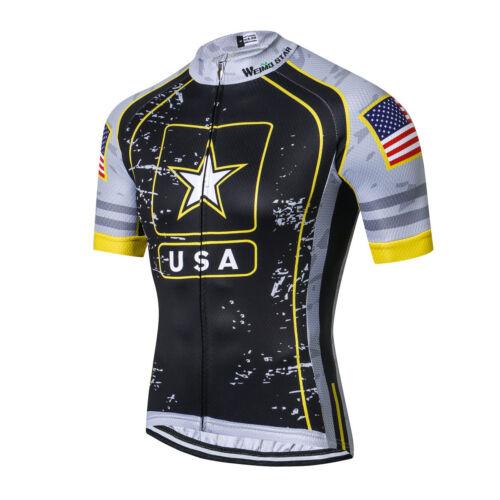Men's Cycling Jerseys Bicycle Short Sleeve Shirt Cycling Clothing Bike Top YJ86