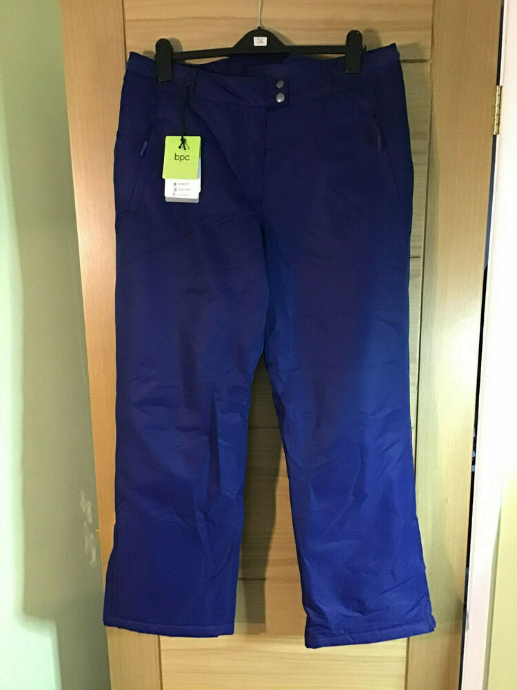 Bleu All Weather Rembourré Isolé Pantalon Imperméable Taille 18, 30 In (environ 76.20 Cm) Jambe