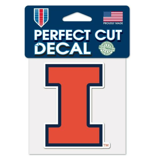 Illinois Fighting Illini 4x4 Perfect Cut Decal Sticker Car Truck Auto FAST SHIP