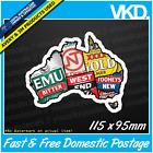 Aussie Beer Map Sticker/ Decal - Beer Bar Mancave Emu Export Ute VB XXXX NT Pub