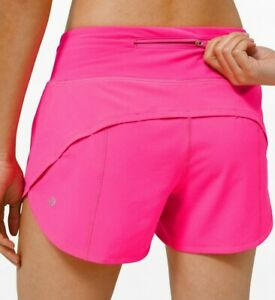 Lulu Nwt Speed Up Short Long 4 Size 2 4 6 8 10 12 Pink Highlight Free Ship Ebay