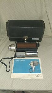 Vintage Bell & Howell Super 8 Movie Projector Model 374F With Case And...