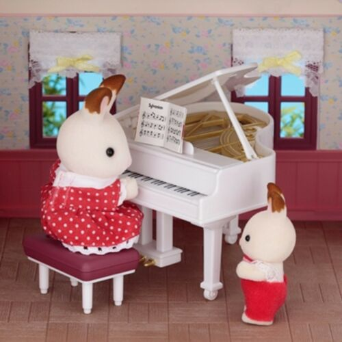 SYLVANIAN FAMILIES GRAND PIANO WHITE limited FAN CLUB online CALICO CRITTERS F//S
