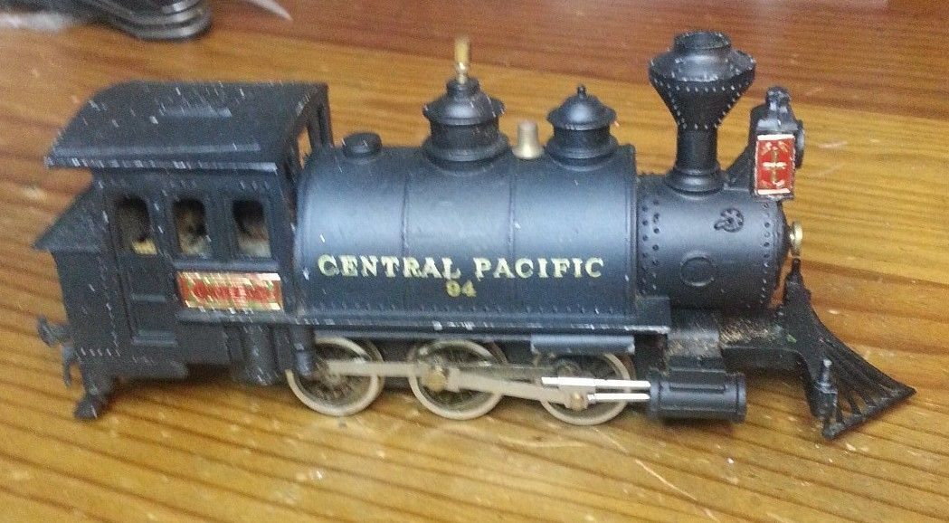 Central Pacific 94 Steam Engine New One Model Tokyo Japan all metal Nice