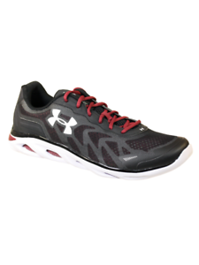 a12e60b750667 Details about UNDER ARMOUR MENS ATHLETIC SHOES TEAM SPINE VENOM 2 BLACK  WHITE MAROON 14 M