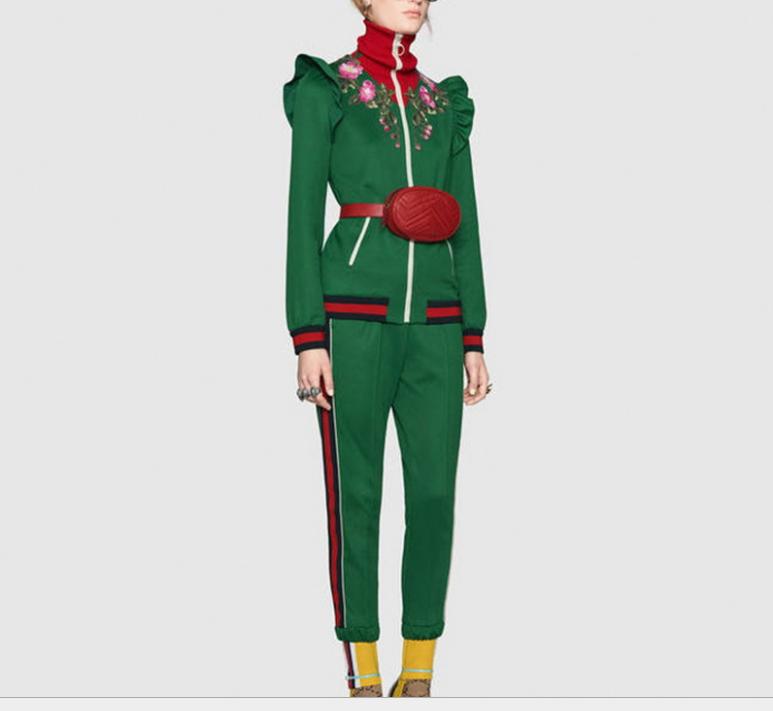 2018 hiver veste + pantalons costumes décontracté designer femmes ensembles manteaux en gros 2 / PCS
