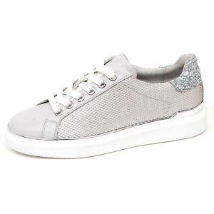 64f9789565 Details about F0792 sneaker donna grey/silver MICHAEL KORS MAX scarpe  glitter shoe woman