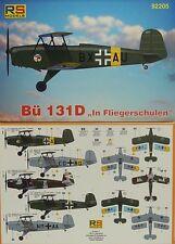 Bücker Bü-131 D Jungmann, Fliegerschulen, 1:72, Plastik, RS-Models, Neu ,